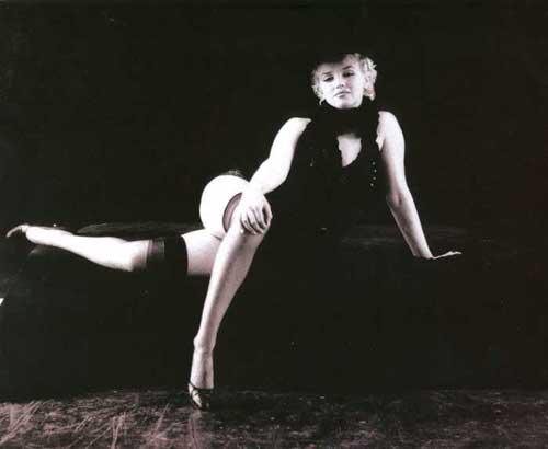 Marilyn Monroe In The Black Sitting
