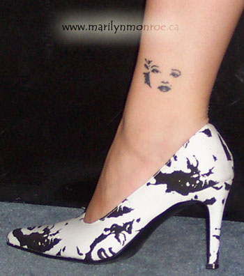 Marilyn Monroe Face Silhouette Tattoo My marilyn monroe tattoo