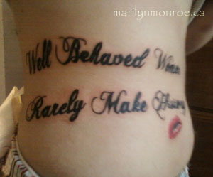 Marilyn Monroe Quote Tattoo
